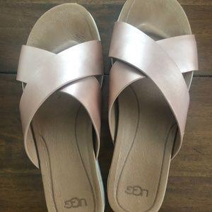 Ugg Kari Metallic Rose Sandal 8